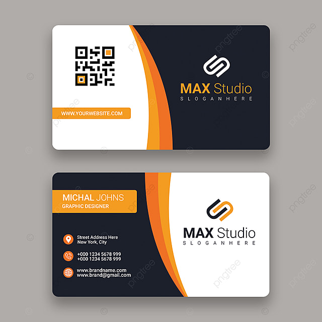 standard business card template for free download on pngtree