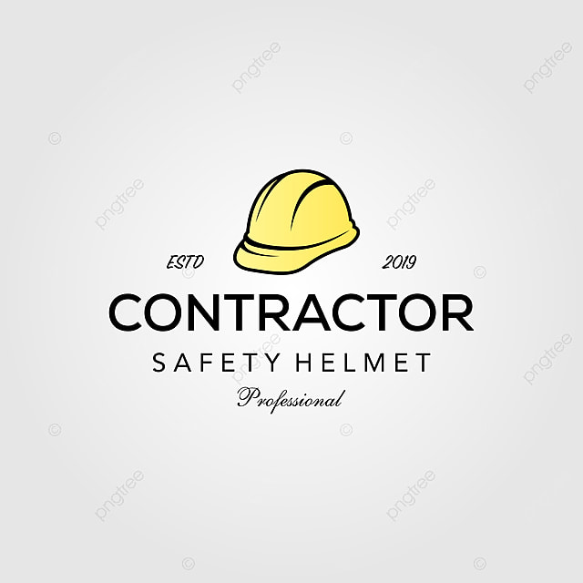Professional Contractor Safety Helmet Vintage Retro Logo Design Illustration Template Download On Pngtree