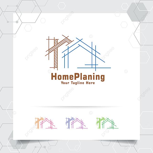Gambar Arkitek Pembinaan Reka Bentuk Logo Konsep Lakaran Seni Bina Ikon Rumah Harta Logo Untuk Kontraktor Dan Hartanah Templat Untuk Muat Turun Percuma Di Pngtree