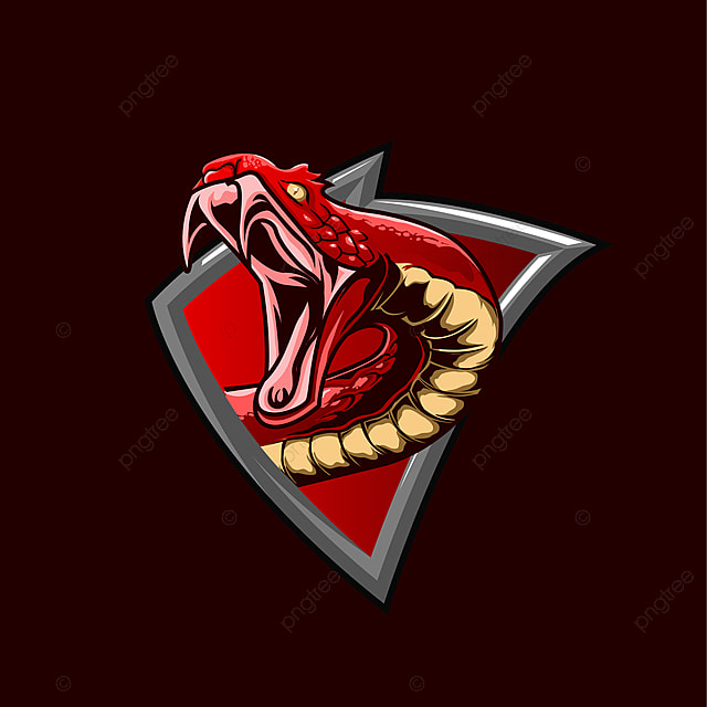 The Red Snake Mascot Gaming Esport Logo Concept Template