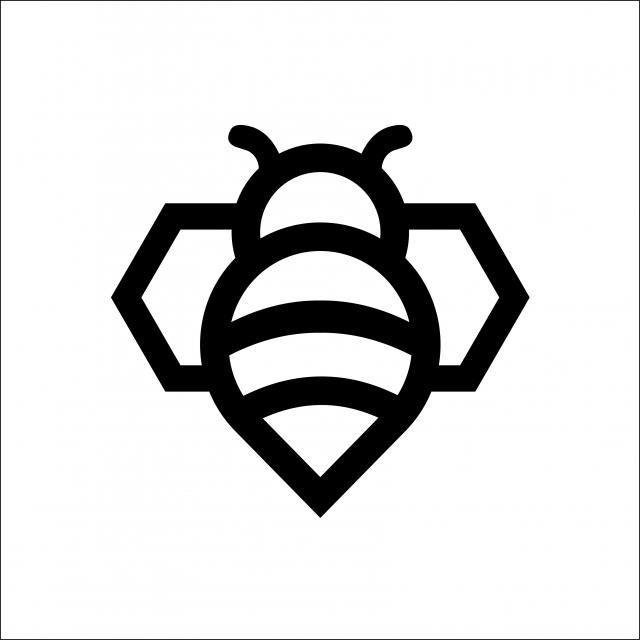 Radiope: Minimalist Geometric Bee Logo