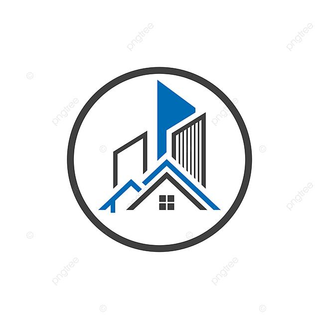 Modele De Conception De Logo De Batiment Et Construction En Forme Ronde Modele De Telechargement Gratuit Sur Pngtree