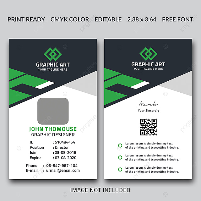office id card template template for free download on pngtree