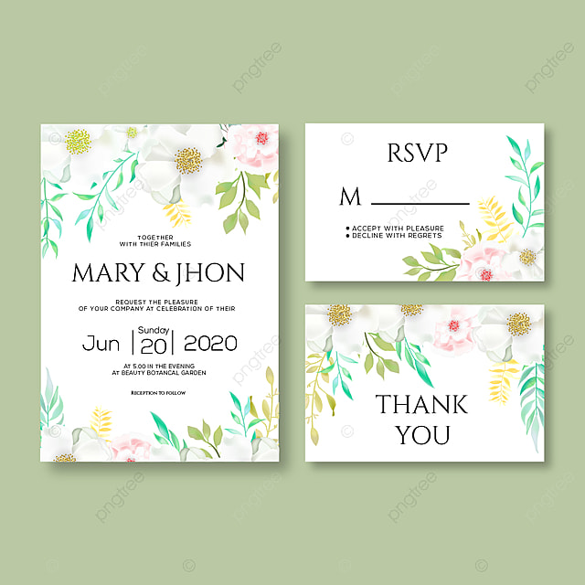 wedding invitation card with rsvp template for free