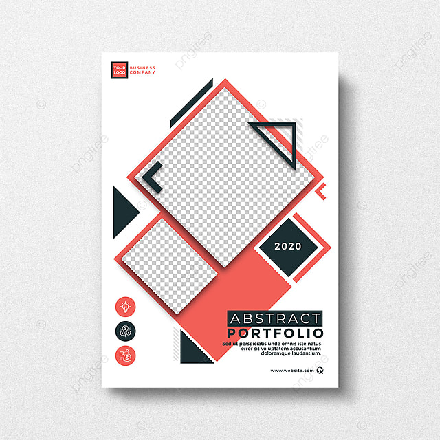 Abstract Style Design Portfolio Cover Template Template