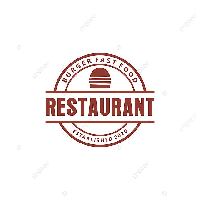 Logo Burger Untuk Restoran Makanan Dan Minuman Templat Untuk Muat
