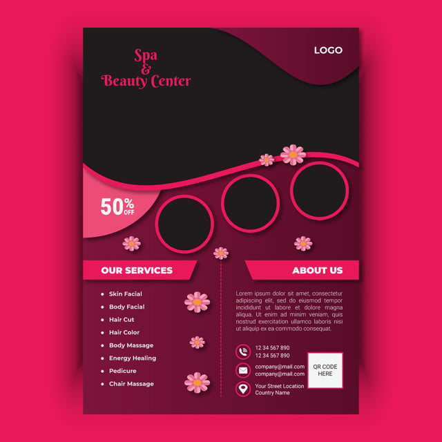 Beauty Spa Flyer Template Template for Free Download on Pngtree