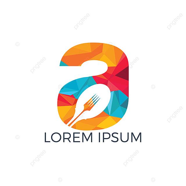 Surat Logo Makanan Ilustrasi Gambar Vektor Sudu Dengan Huruf Logo