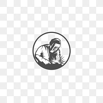сварщик в рабочей одежде линейный арт силуэт сварщика Шаблон