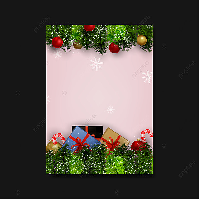 Christmas Blank Flyer Template Simple Design Background
