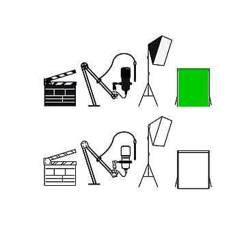 иллюстрация некоторого студийного оборудования Шаблон