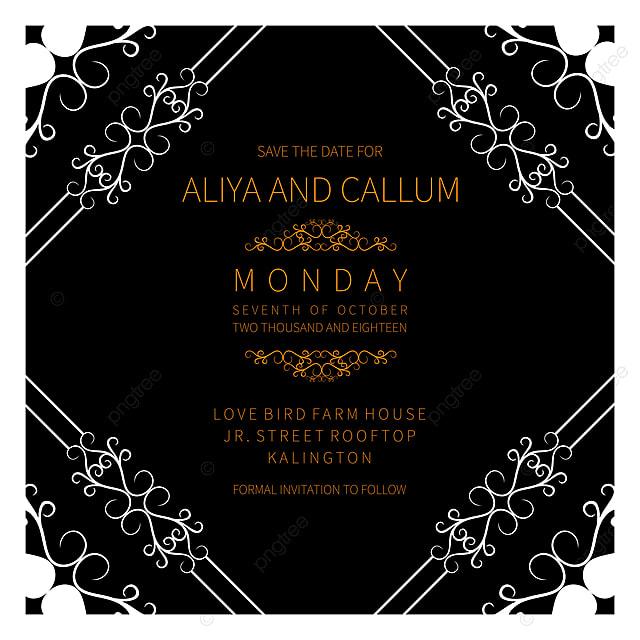 Beautiful Simple Wedding Invitation Card Design Template For