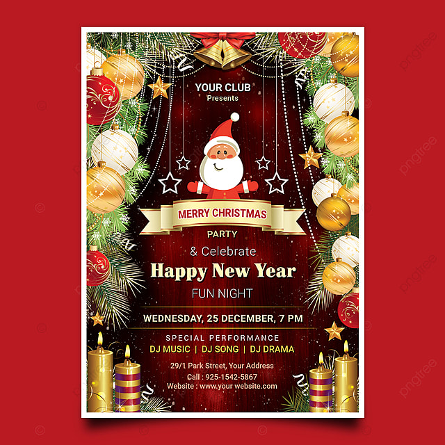 Happy New Year Invitation Card 77