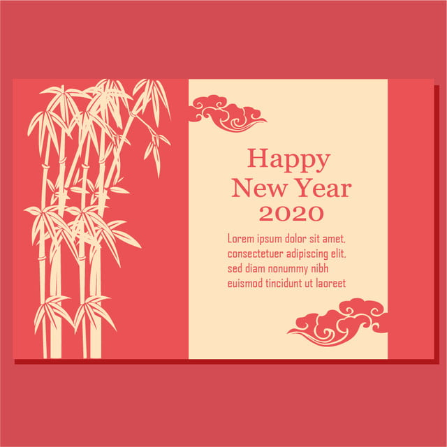 Happy New Year Chinese Card Template 2020 Template for ...