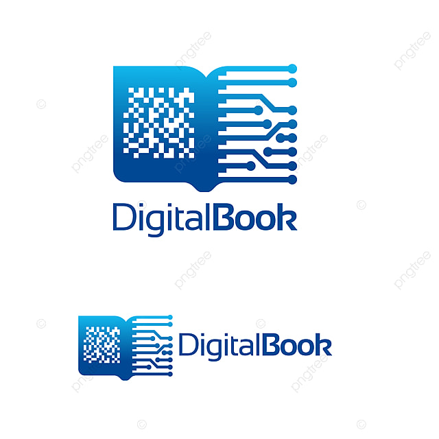 Modern Digital Book Logo Electronic Book Logo Template