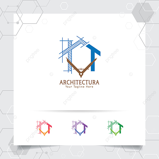 Konsep Desain Logo Arsitek Konstruksi Sketsa Arsitektur Ikon Logo Properti Rumah Untuk Kontraktor Dan Real Estat Templat Untuk Unduh Gratis Di Pngtree