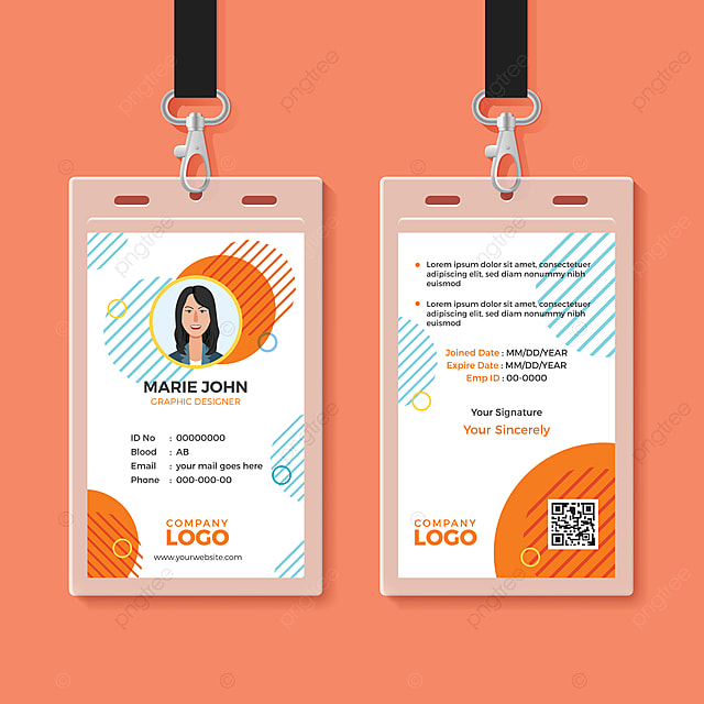 Label Tag Mockup Design: Multipurpose Office Id Card Template Template For Free