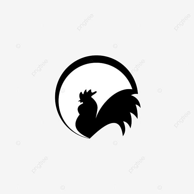 Chicken Icon Vector Chicken Silhouette Vintage Logo Retro