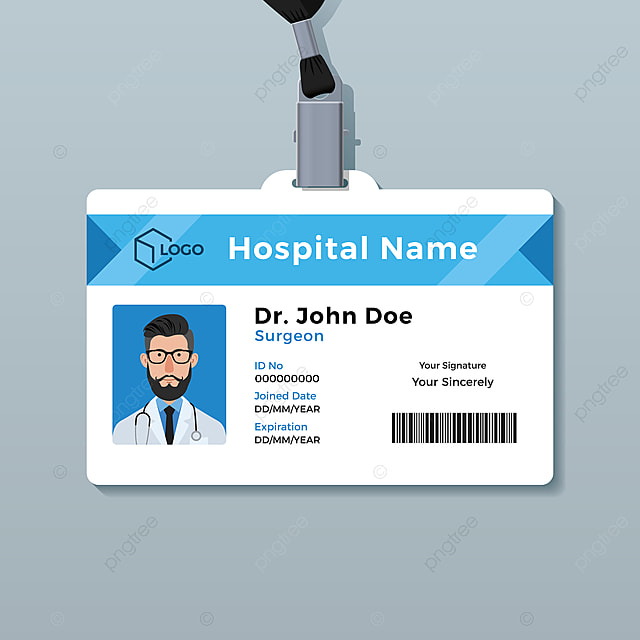 Doctor Id Card Template Medical Identity Badge Template