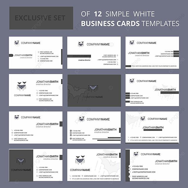 Bat Bus 12 >> Set Of 12 Bat Creative Busienss Card Template Editable