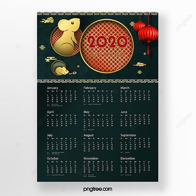 2020 chinese year calendar