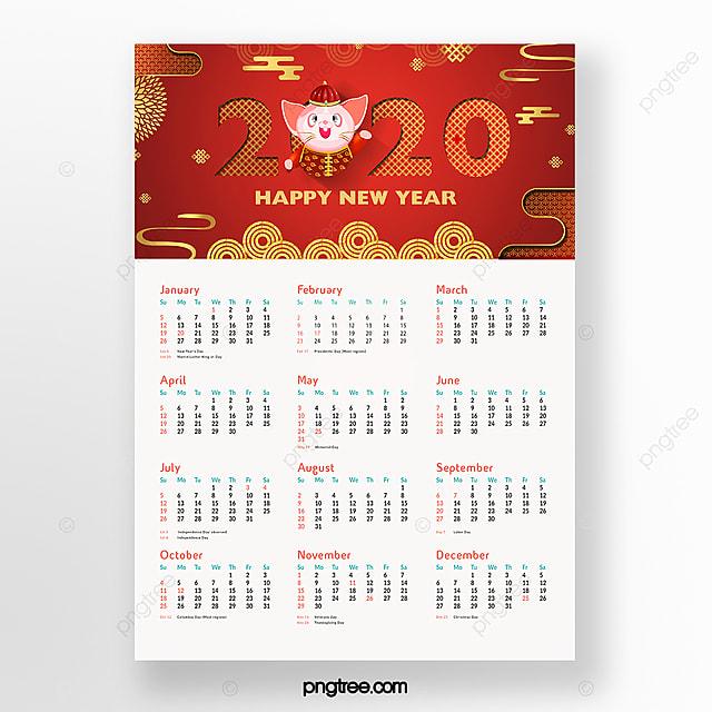 chinese festive red calendar