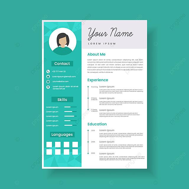 feminine resume template design stylish cv set for women