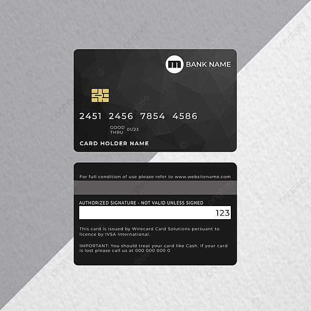Debit Card Or Atm Card Template For Free Download On Pngtree