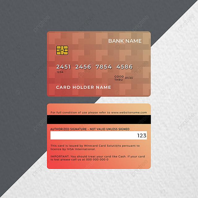 modern credit debit atm card design template for free