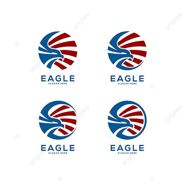 Eagle Head Circle Logo Vector Abstract Set Template For