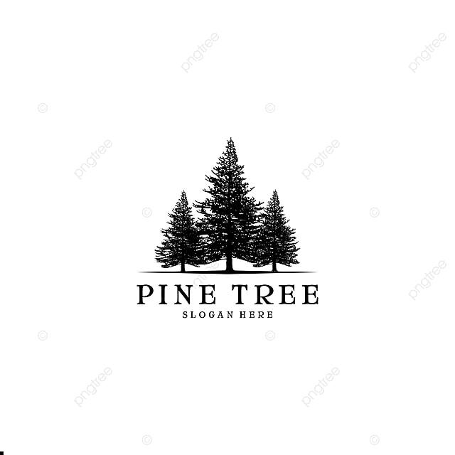 pine tree logo design inspiration template for free