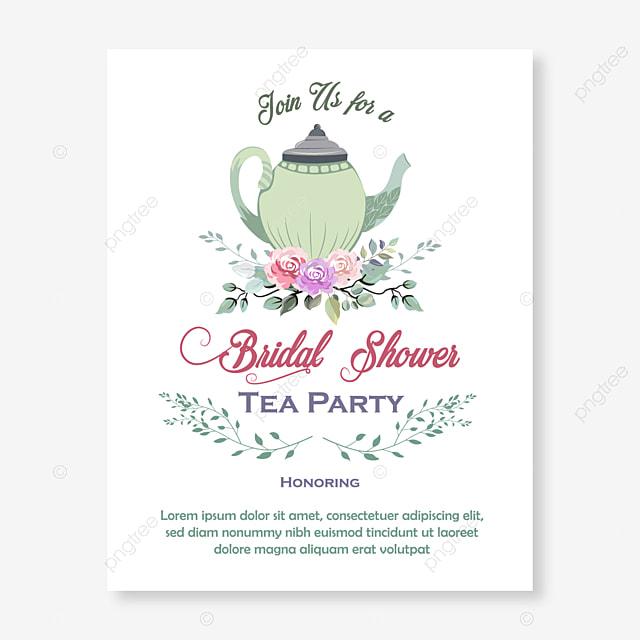 قالب دعوة حفل الشاي قالب تحميل مجاني على ينغتري