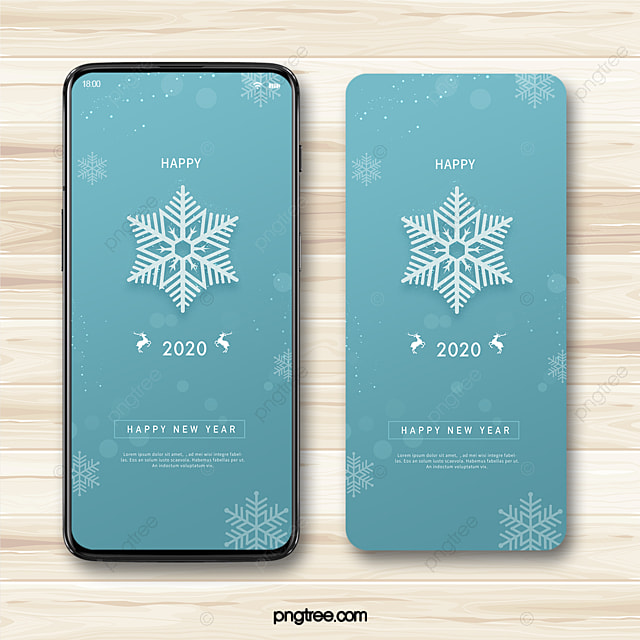 blue fantasy snowflake winter 2020 new year wishes happy new year mobile phone template