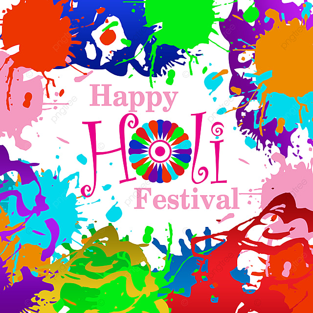 happy holi festival full color