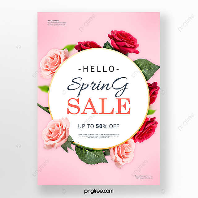 spring flowers blooming flowers promotion poster