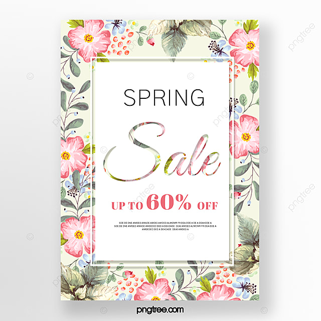 color spring flowers promotion poster