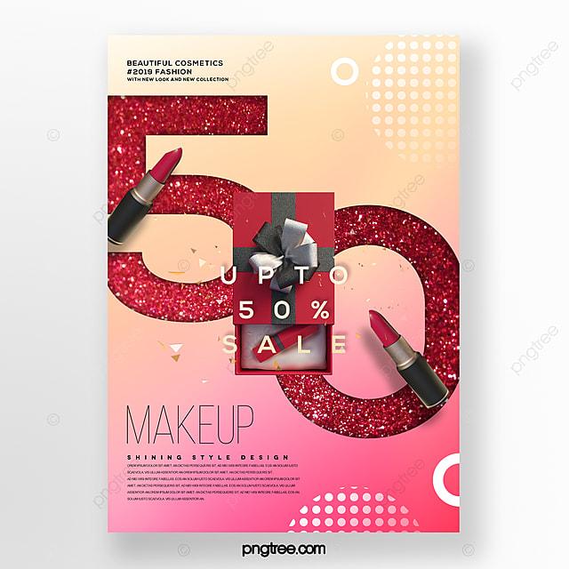 fashion modern cosmetics beauty business promotion poster