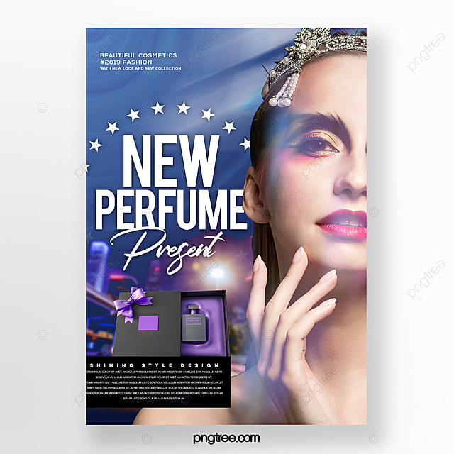 fashion trend perfume cosmetic box promotion poster