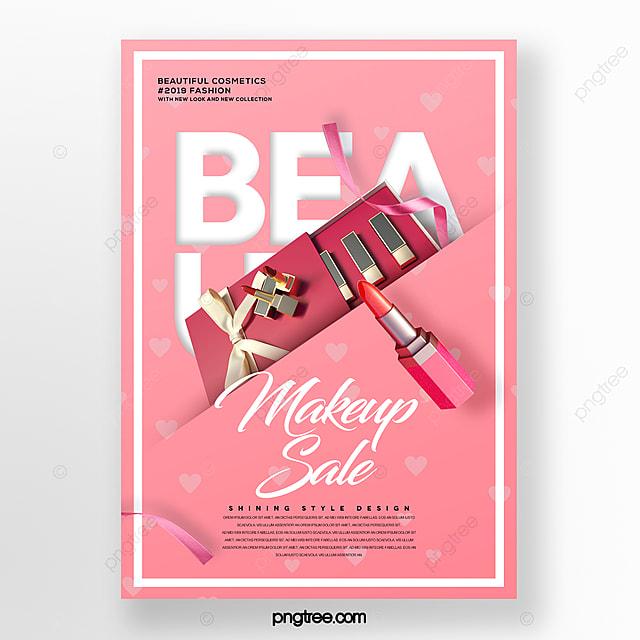 fresh and stylish cosmetic lipstick set box poster