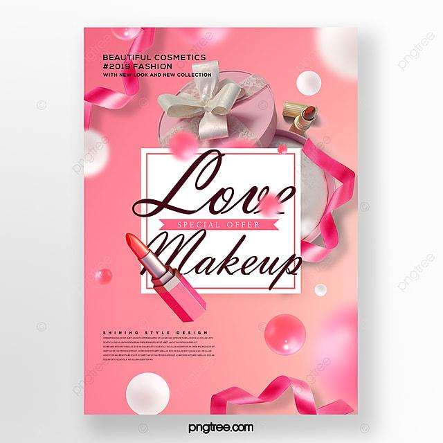 fresh and stylish lipstick lipstick box promotion poster