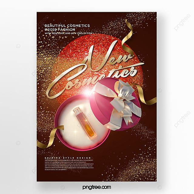modern fashion cosmetics promotion poster