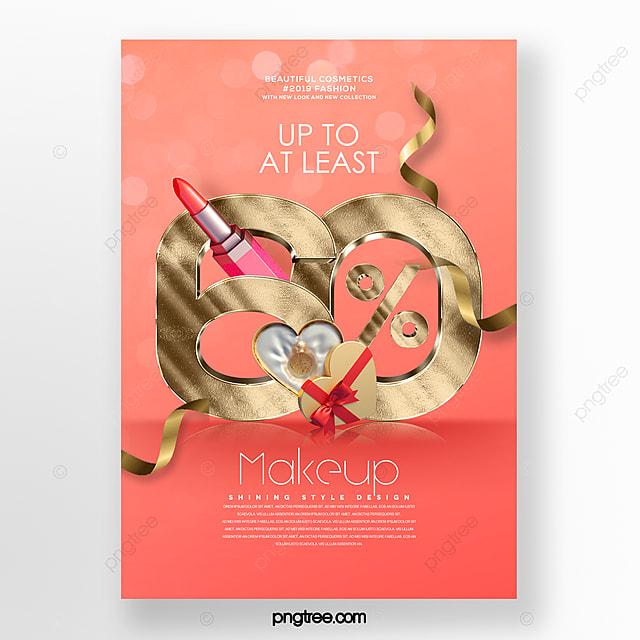 modern fashion promotion cosmetics beauty promotion poster