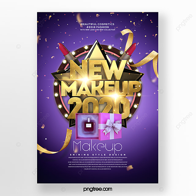 modern fashion publicity cosmetics poster