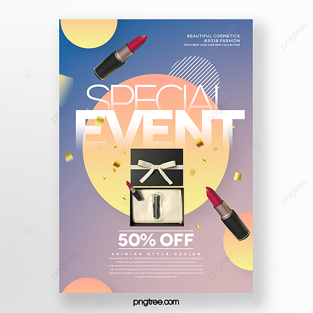 simple and stylish cosmetic beauty promotion poster
