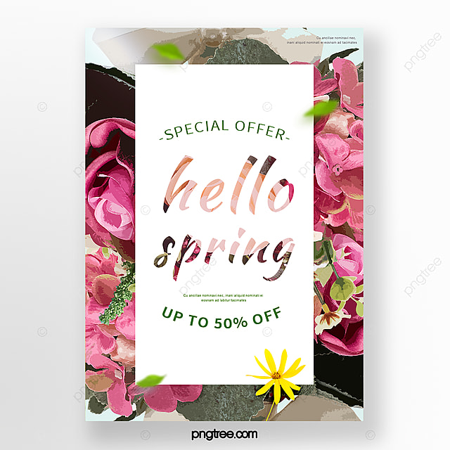 spring flowers blossoms promotion poster