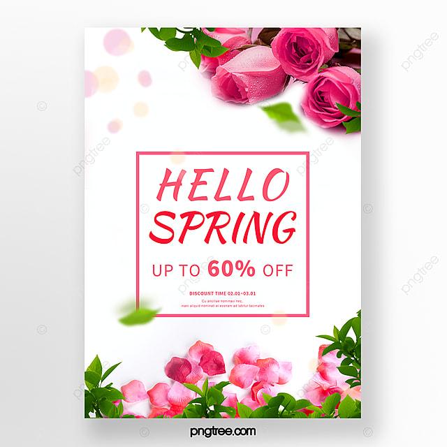 spring rose flower promotion poster