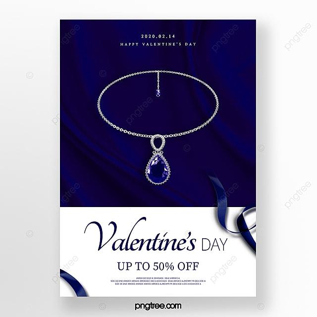 Blue Minimalist High Jewelry Valentines Day Promotion