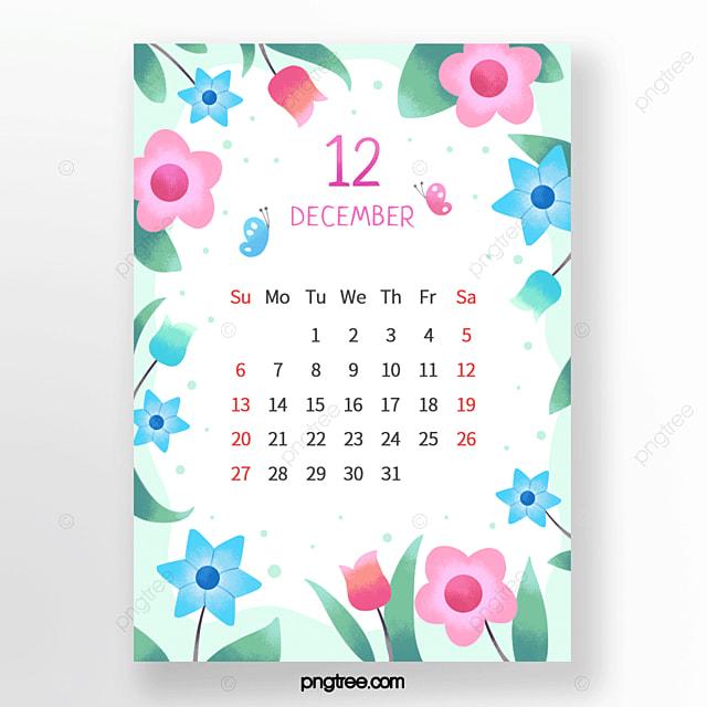 beautiful flowers small flowers leaves butterflies pink blue december calendar
