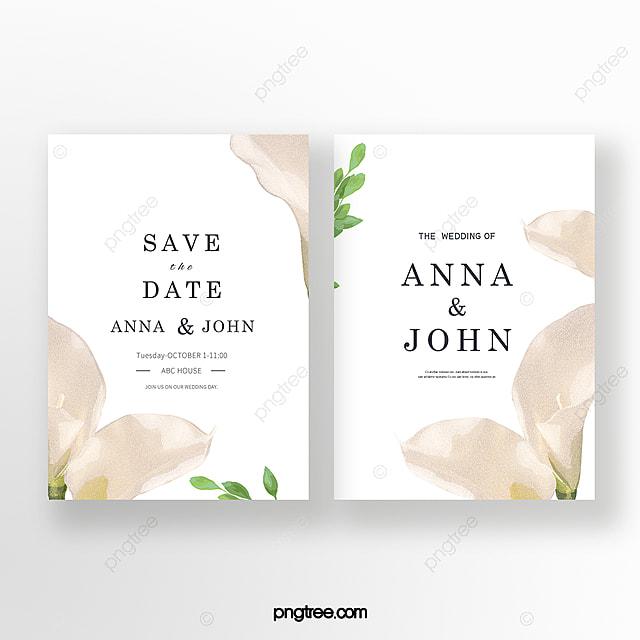 elegant hand painted wedding invitation