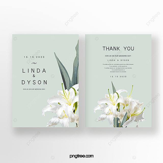 elegant hand painted flowers wedding invitation